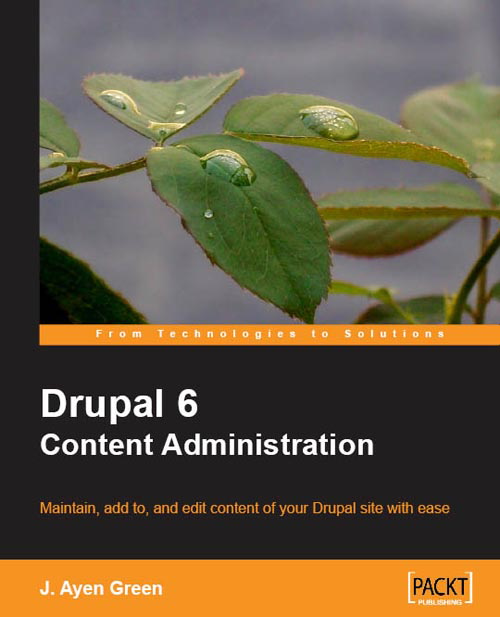 D6 Content Administration book cover.