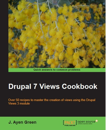 D7 Views Cookbook book cover.